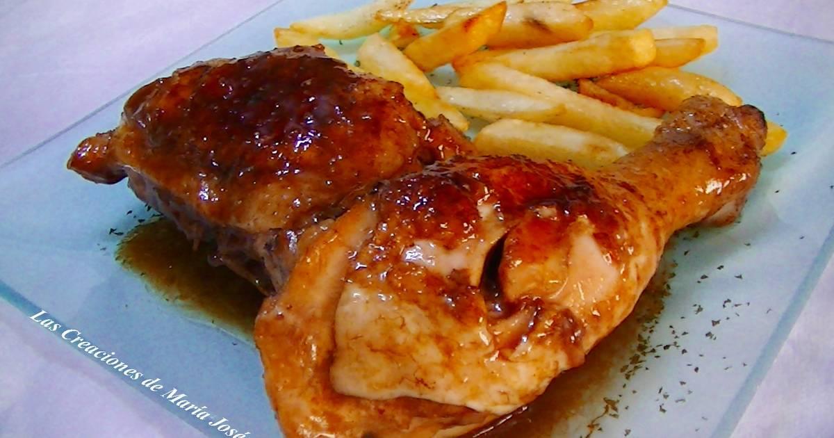 Muslos de pollo en salsa de refresco sin gluten receta de for Muslos pollo en salsa