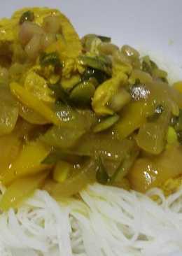 Curry de pollo con granada y semillas de calabaza 🙄
