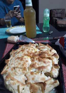 Tarta de pollo jugosa