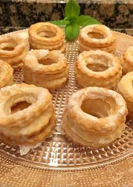 Roscos de hojaldre con glasa, sin gluten