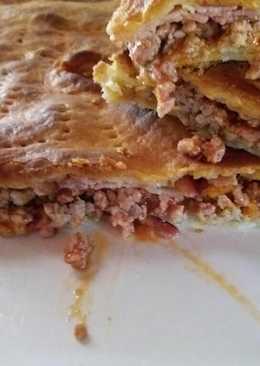 Empanada rápida de carne picada y beicon