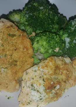 Soja al curry con brócoli y patatas al pimentón(vegano)