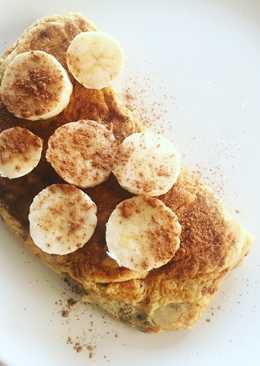Tortilla de plátano y canela