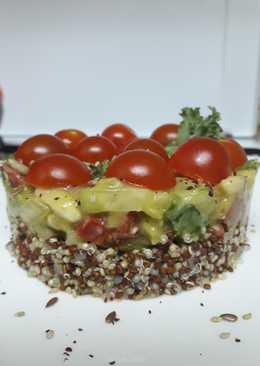 Timbal de ceviche de verduras y quinoa 🥑🍄