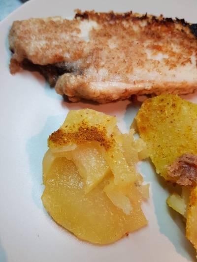 Filete de lenguado a la plancha con patatas al vapor (apto para diabéticos)