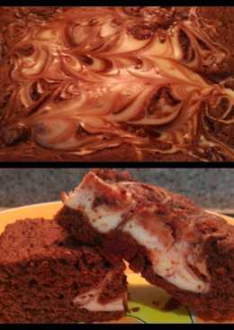 Postre Brownie marmolado