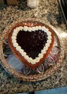 Tarta corazón de San Valentín