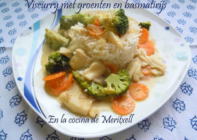 Pescado al curry con verduras y arroz basmati receta de - Arroz con pescado y verduras ...