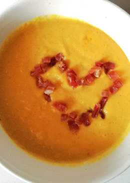 Crema de calabaza y curry en Mycook
