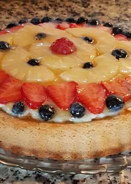 Tarta de frutas 🍓🍍🍒🥝