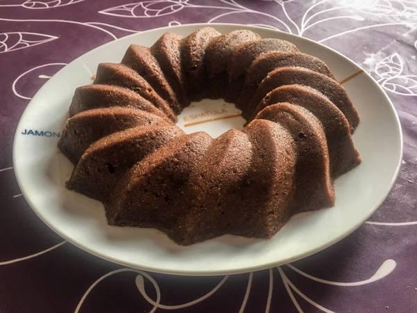Bizcocho integral de chocolate al microondas