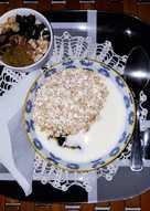 Desayuno de yogur natural