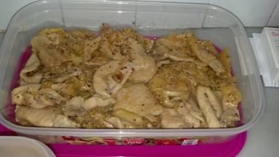 Chutney de manzana con solomillo de cerdo y granos de mostaza