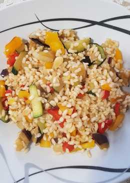 Arroz integral con verduras