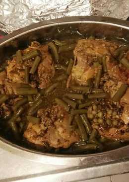 Pollo a la cerveza, mostaza y curry