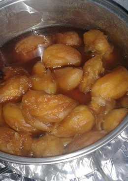 Mangos sazonados en miel de dulce de panela