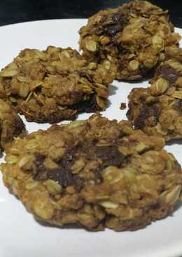 Cookies de avena con jengibre y pepitas de chcolate