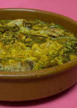 Arroz con pollo y verduras al romero