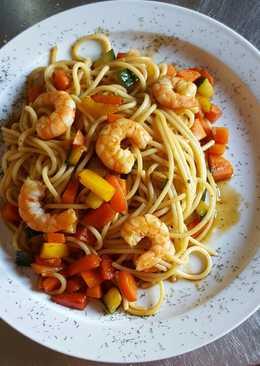 Espaguetis con verduras 533 recetas caseras cookpad - Espagueti con gambas y nata ...