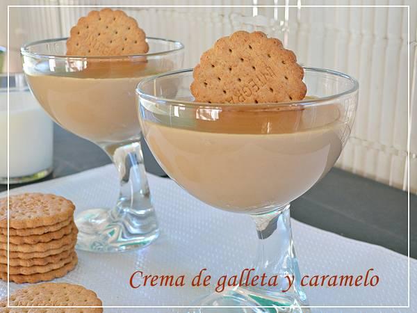 Crema de galletas y caramelo.( Thermomix )
