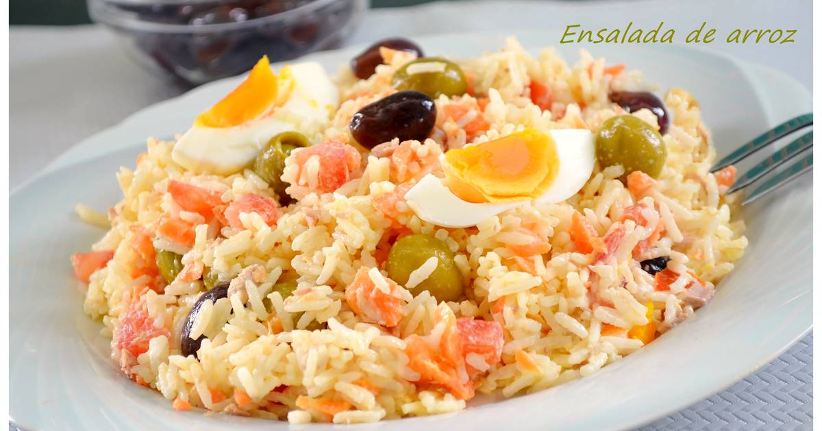Ensalada de arroz con mayonesa 85 recetas caseras cookpad - Ensalada de arroz y atun ...