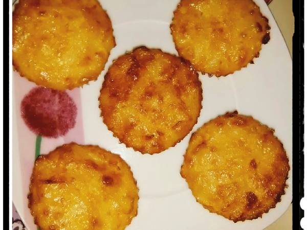 Falso cupcake de tortilla de patatas