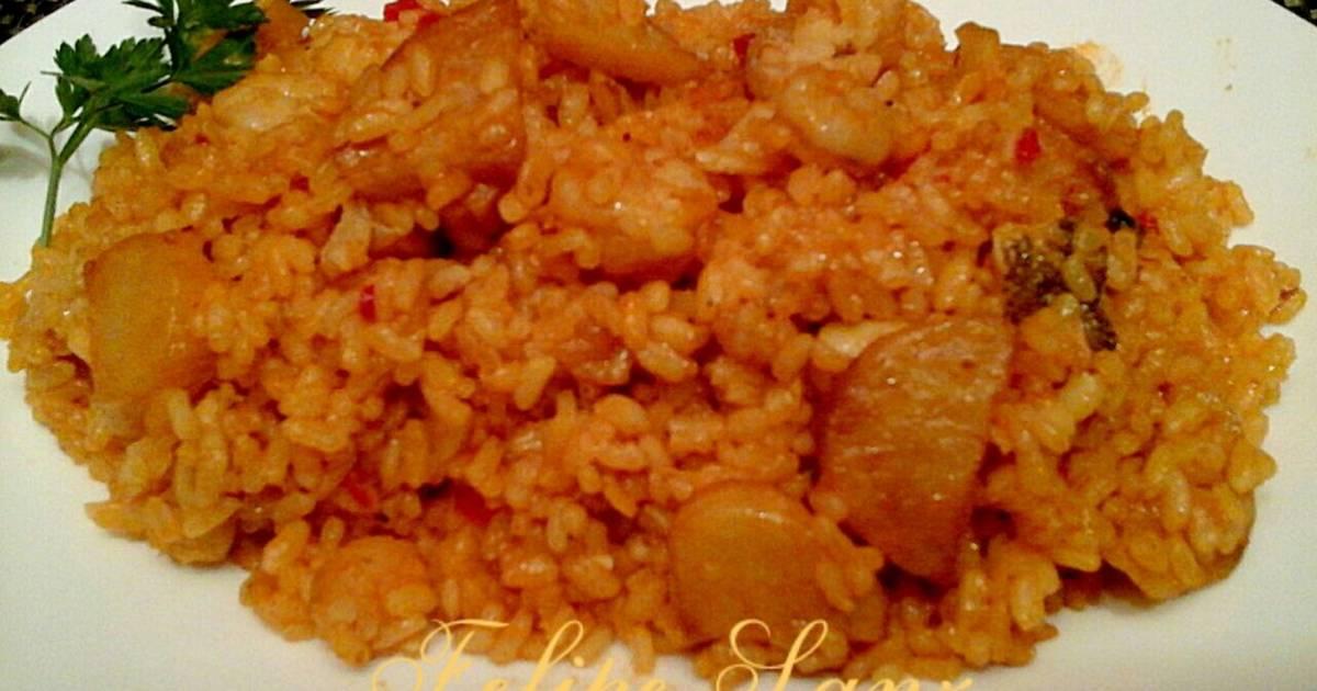Arroz con bacalao y gambas receta de felipe sanz cookpad - Arroz con bacalao desmigado ...