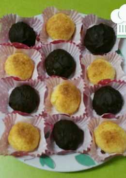 Coquitos de coco con toque de naranja y chocolate