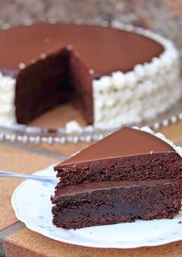 Tarta de chocolate y caramelo salado