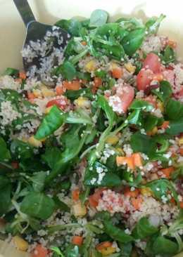 Ensalada completa de cuscús (vegana)