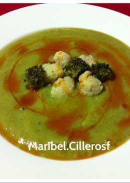 Crema de bróculi y coliflor