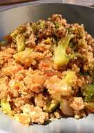 Salteado de quinoa con carne picada