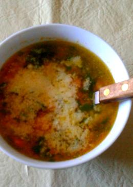 Sopa de verduras ¡súper!