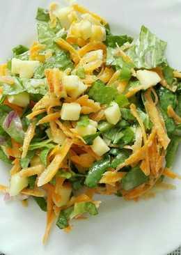 Ensalada de Lechuga, Zanahoria y Manzana