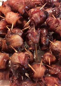 Delicias de Elche al horno (dátiles con bacon)