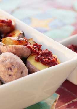 Papas arrugadas. Patatas típicas canarias