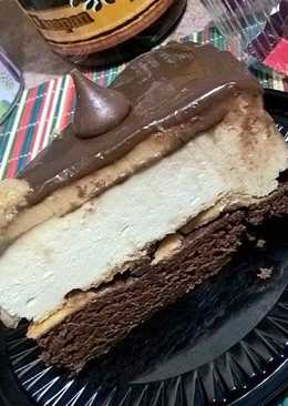 Brownie cheesecake moka