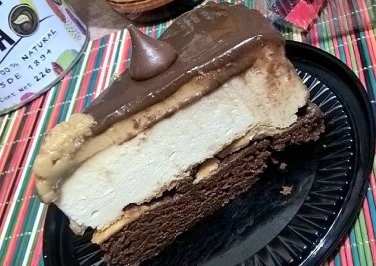 Brownie cheesecake moka