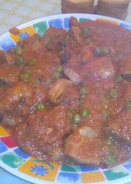 Champiñones al curry de coco