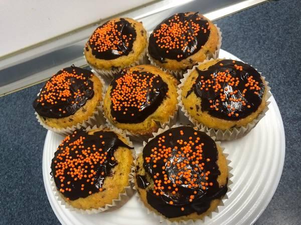 Magdalenas de naranja y chocolate 🍊🍫