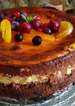 Tarta de Queso con Naranja y Brownie