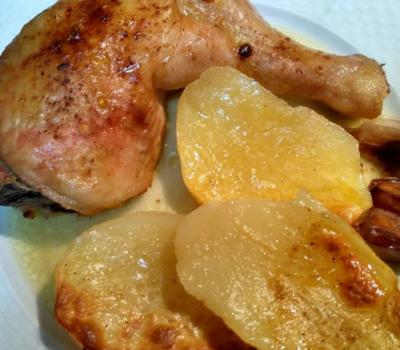 Pollo a la Cerveza, asado al horno