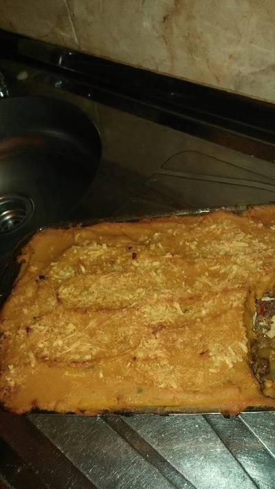 Pastel de carne con puré de zapallo