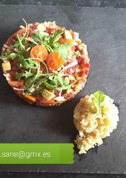 Tartar verduras y quinoa