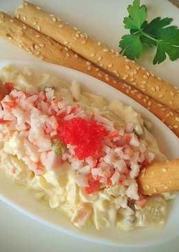 Tapa de ensaladilla de surimi de cangrejo