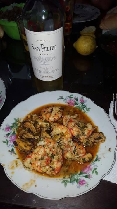 Salsa de mejillones y langostinos a la provenzal