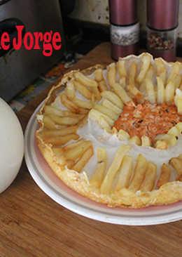 Huevo de avestruz con patatas