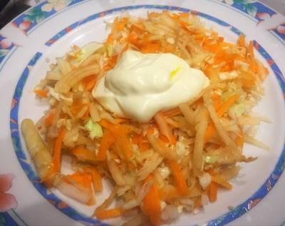 Ensalada repollo, zanahoria y manzana diet!