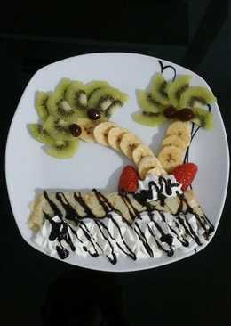 Crepes dulces con frutas
