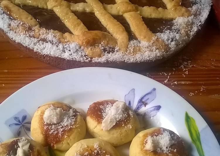 Pastafrola y Pepas de dulce de leche. Masa sin manteca